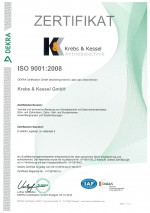 ISO 9001:2008 certificated